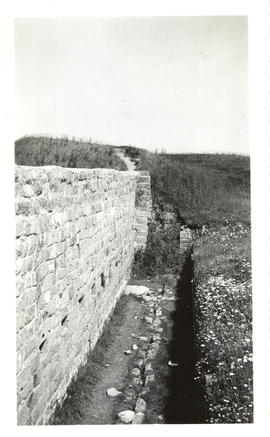 Photograph of the interior of a stone curtain at Fort Beausejour