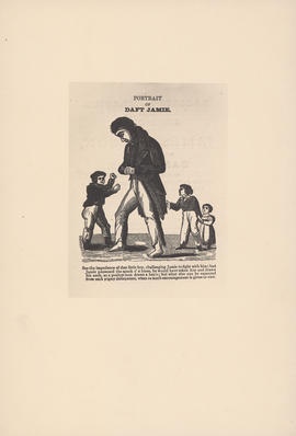 Engraving of Portrait of Daft Jamie : [1829]