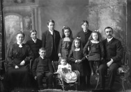 Photograph of John Wood and family