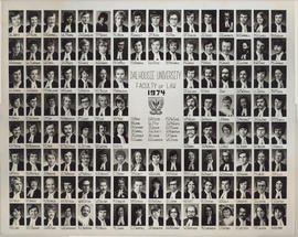 Composite photograph of Faculty of Law Graduates of 1974