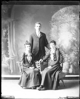 Photograph of Bruce McDonald & lady friends