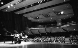Photograph of a performance in the Rebecca Cohn Auditorium