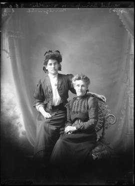 Photograph of Mabel Simpson & mother