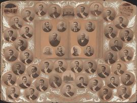 Composite photograph of Arts. Science and Letters at Dalhousie University in 1897