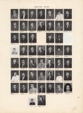 Composite photograph of the Faculty of Medicine - Fourth Year Class, 1971-1972 (Anderson to Leger)