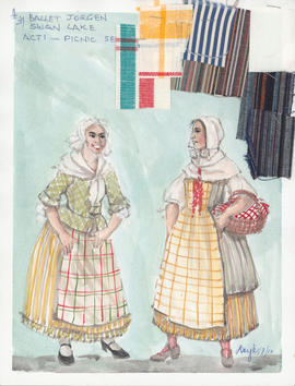 Costume design for Picnic Servers : Act 1