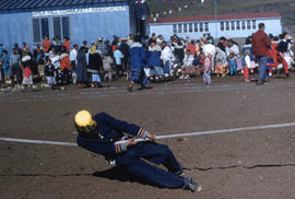 Photograph of a tug-of-war competitor in Apex, Northwest Territories