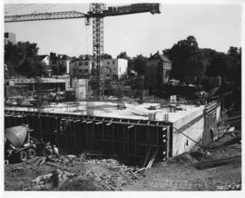 Photograph of the north east view of the Killam Memorial Library construction