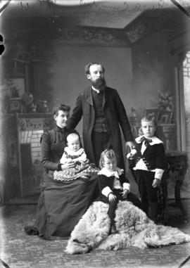 Photograph of Rev. A. Campbell and family