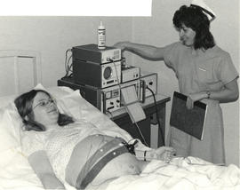 Photograph of Monitoring an Obstetrical Patient