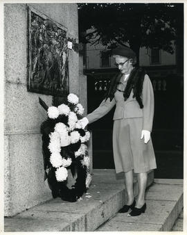 Josie Cameron at the Cenotaph