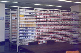 Photograph of Microform collection in the Killam Memorial Library, Dalhousie University