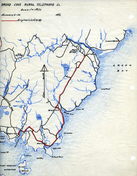 Map of Broad Cove Rural Telephone Company's telephone line