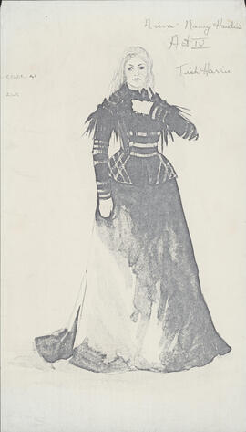 Costume design for Nina : Act IV