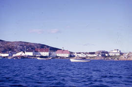 Photograph of the Moravian mission in Hopedale, Newfoundland and Labrador