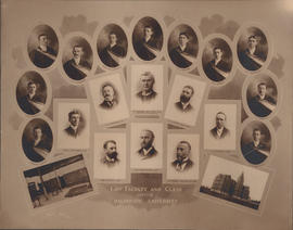 Composite photograph of Law Faculty and Class of 1902
