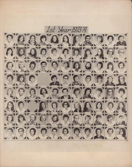 Photograph of Faculty of Law first year class of 1973-74