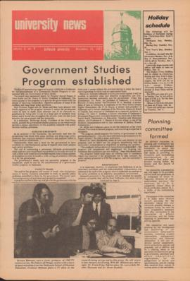 University News, Volume 3, Issue 8