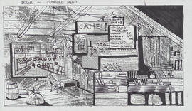 Design for scene 1 : Tobacco shop