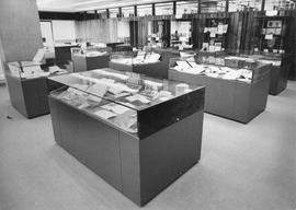 Photograph of a special collections display area