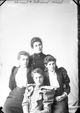 Photograph of Miss Moodie and unknown individuals