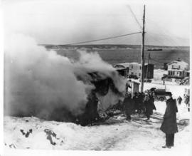 Photograph of a fire in Africville