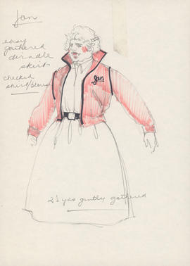Costume design for Jan as a Pink Lady
