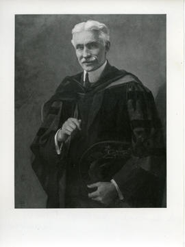 Photograph of a painting of Dr. Arthur Stanley MacKenzie