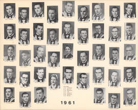 Composite photograph of the Faculty of Medicine - Class of 1961