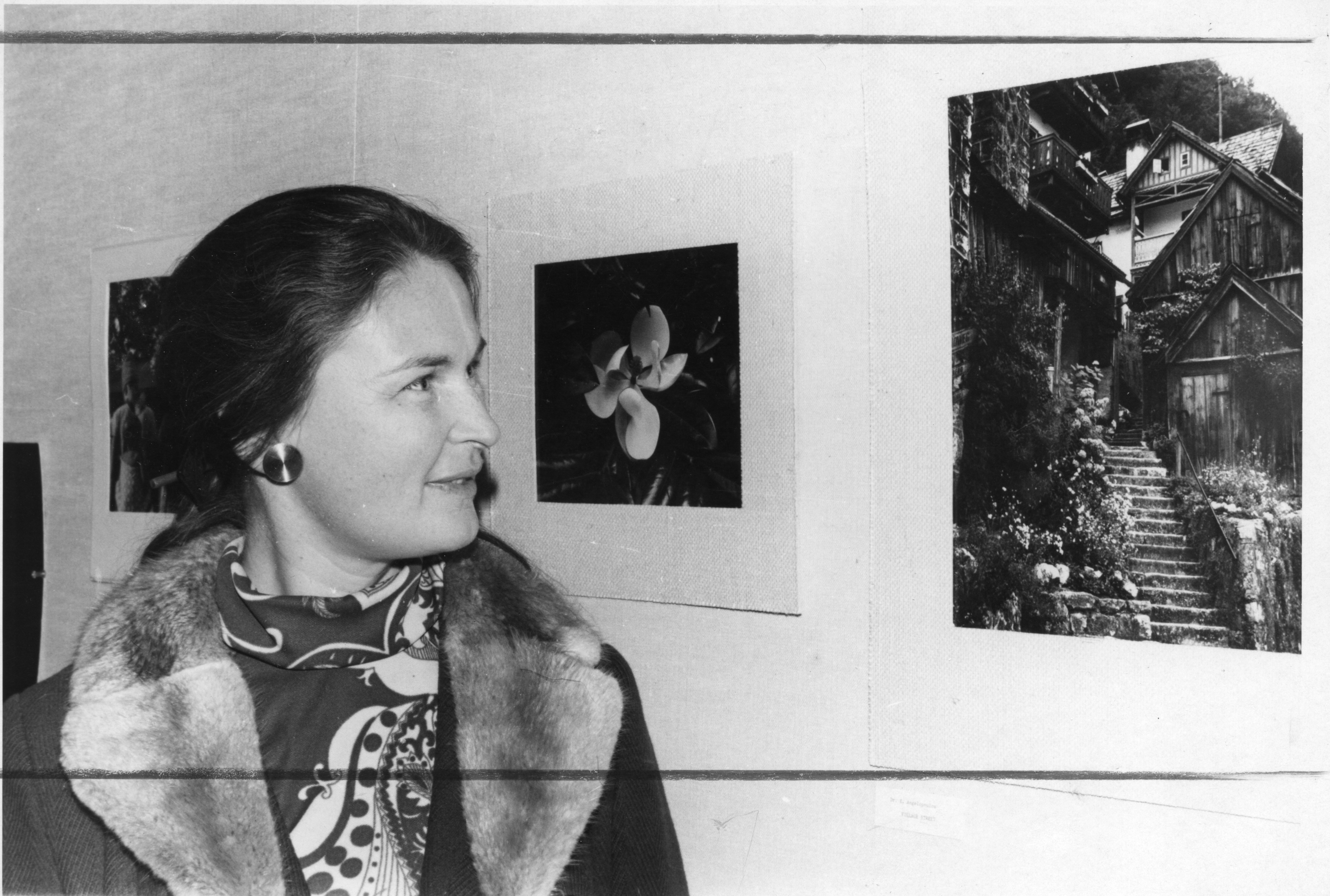 Photograph of Dr. Edith Angelopoulos with prize-winning picture ...
