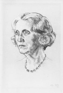 Photograph of a drawing of Mrs. George S. Campbell