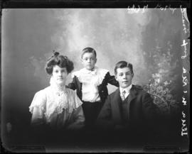 Photograph of Lena McRae and her brothers