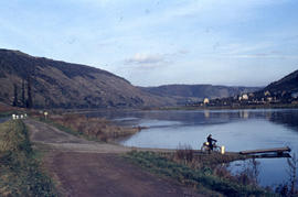 Photograph of the Mosel River with walking path