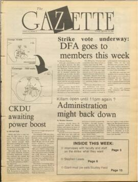 The Dalhousie Gazette, Volume 121, Issue 3