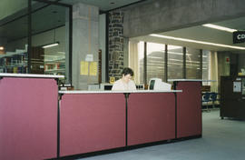 Photograph of the Reference Desk at the Killam Memorial Library, Dalhousie University
