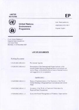United Nations Environment Programme (UNEP) - Fourth Global meeting of regional seas conventions ...