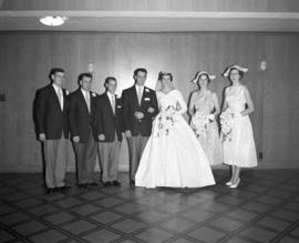 Photograph of Mr. & Mrs. Bennett and their wedding party