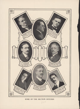 Composite photograph of American Medical Association Section Officers [1910]