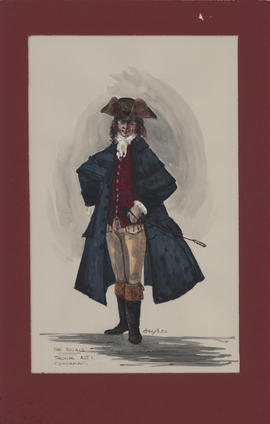 Costume design for Thomas : Act I, coachman