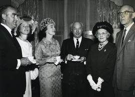 President Hicks with members of the Benevolent Society