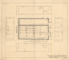 Plan & elevations of room in basement of plant for Keith & Son