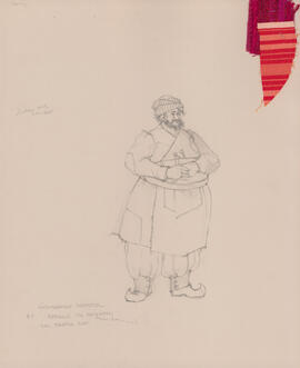 Costume design for Abdullin the shopkeeper