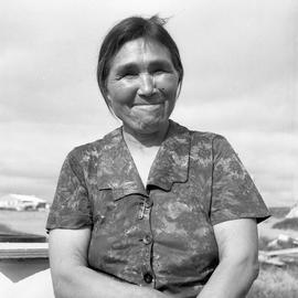 Portrait of Jeannie Snowball in Fort Chimo, Quebec