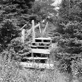 Photograph of an old wooden staircase