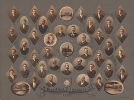 Photographic collage of the Dalhousie University Arts and Science faculty and senior class of 1903