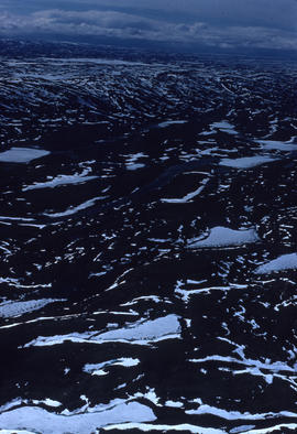 Photograph of a snowy landscape near Frobisher Bay, Northwest Territories