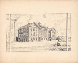 The Science Building. The first building erected at Studley, 1912 : [drawing]