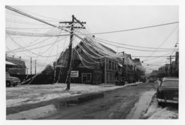 Photograph of before the telephone and power plant collapses in Summerside Prince Edward Island