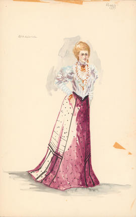 Costume design for Arkadina