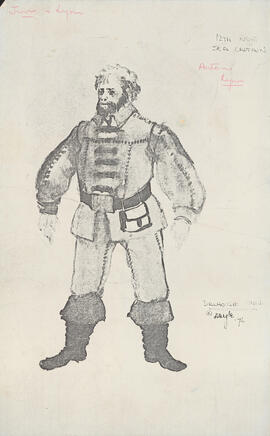 Photocopy of costume design for Sea Captain